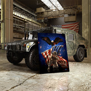military art on army hummer in military base