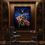 military art in luxury office