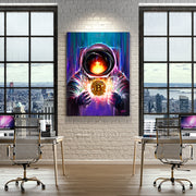 modern office bitcoin inspirational wall art