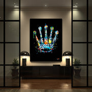 modern wall art of rolex in graffiti style
