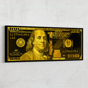 Money art 100 dollar bill motivational inktuitive