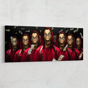 Money Heist, Dali mask motivational wall art