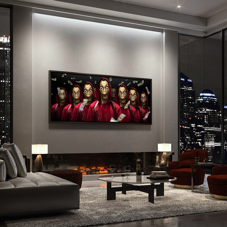 Money Heist motivational wall art