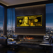 money motivational wall art in modern condo inktuitive