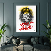 "Motivational canvas art, ""Kings Are Made"" by Inktuitive"