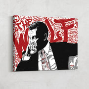 Motivational canvas art of Leonardo DiCaprio Wolf of Wall Street