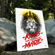 Motivational canvas art of Lion King