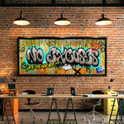 graffiti wall art in the office