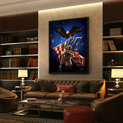 patriot military art in living room