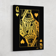 poker card queen style wall decor