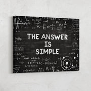 Science, physics and math chalkboard inspirational wall art
