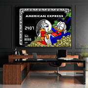 scrooge mcduck canvas wall art in office