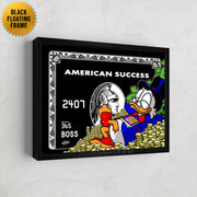 scrooge mcduck credit card canvas art