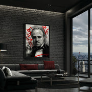 The Don: Godfather Marlon Brando Wall Art In Living Room