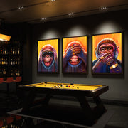 three monkeys canvas prints