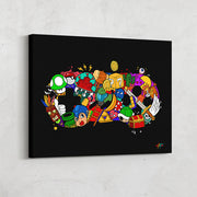 Video game controller wall art