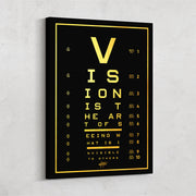 vision test gold canvas art