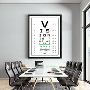 vision test motivational canvas art in office