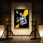 wall art of bruce lee