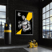 wall art for mma yellow