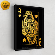 wall decor of royal playing card queen