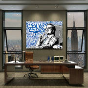 Wall Street Gordon Gekko, office motivational wall art