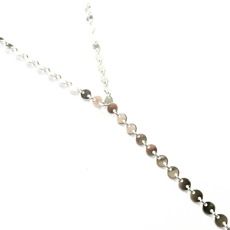 Rosa lariat sterling silver close up agapantha jewelry.JPG