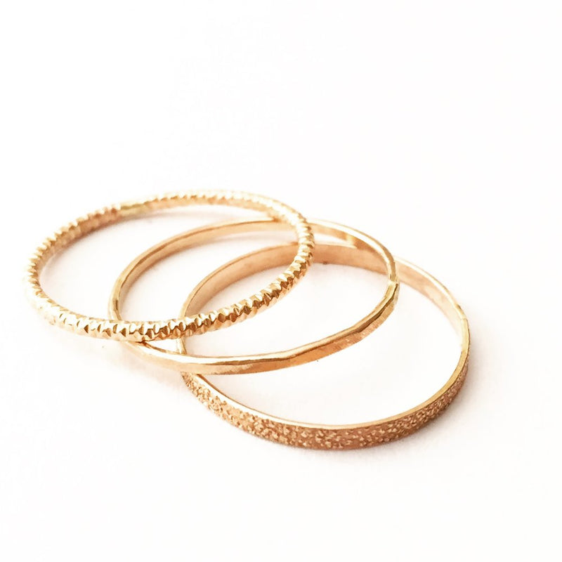 Kara 3 ring stack 14k rose gold fill agapantha jewelry.JPG