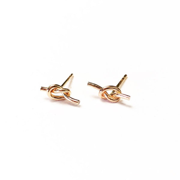 Shelby love knot stud earrings agapantha jewelry 14k rose gold fill.JPG