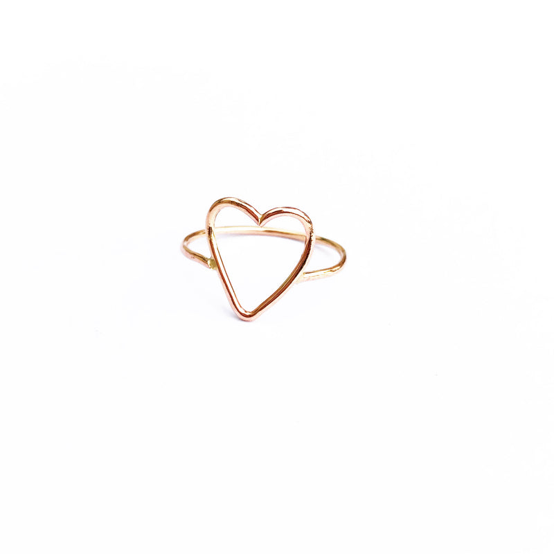 Crissie Open Heart Ring