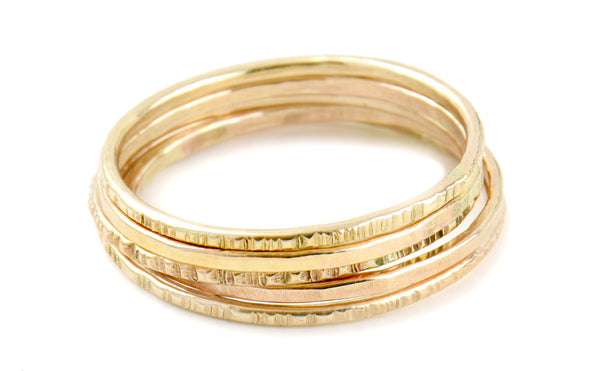 14k Yellow Gold, Paige Stacker Ring