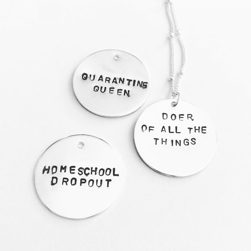 Snarky Stamped Necklace