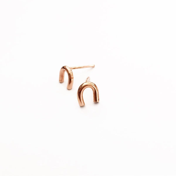Hey U studs 14k rose gold fill sterling silver agapantha jewelry.jpeg