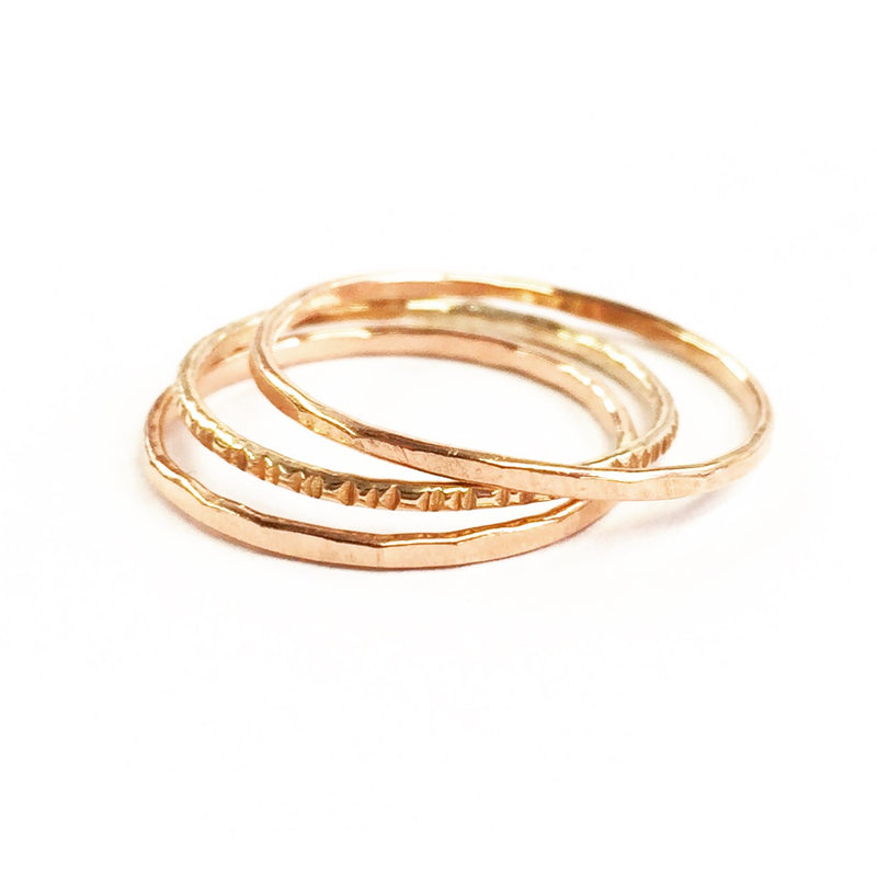 14k Rose Gold,  Paige Stacker Ring