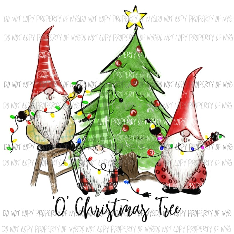 Download oh Christmas tree gnomes 1 Sublimation transfers - NY ...