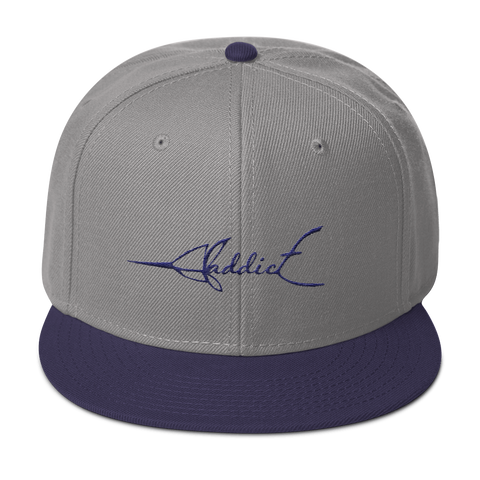 JF Addict Marlin Navy/Grey Snapback
