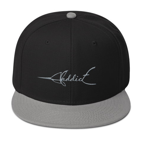 JF Addict Marlin Grey/ Black Snapback