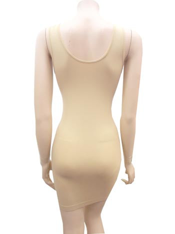 Wide Strap Reversible Neck Fitted Slip Dress