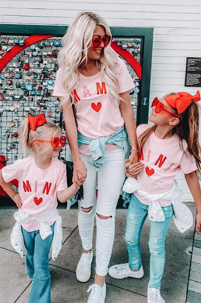 Mama and Mini Matching Pink Tees