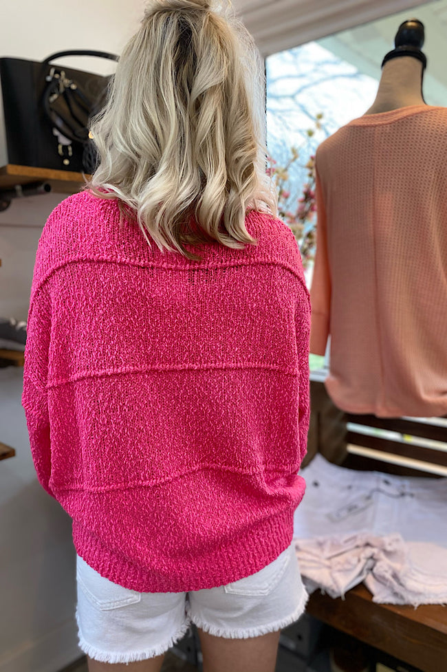 Ayla Hot Pink Sweater