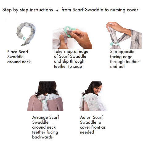 How To Use The Scarf Swaddle Nursing Cover Scarf Burp Cloth