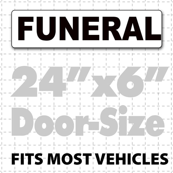 Magnetic Funeral Signs for Cars