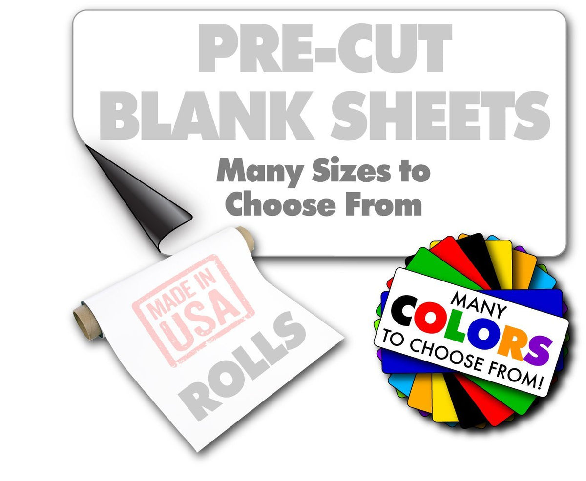 Magnetic sign blanks rolls of sheeting blank car magnets from 5 wholesale magnetic signs