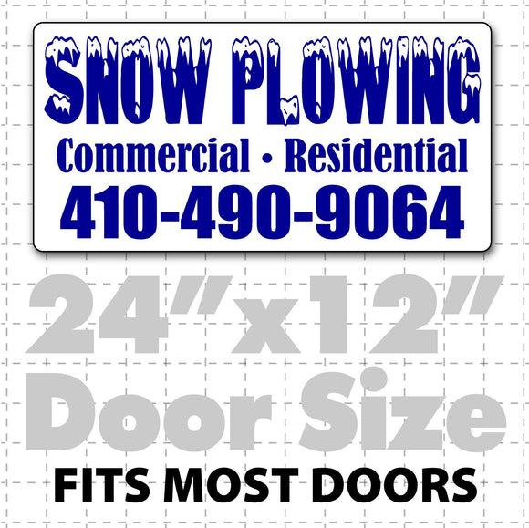 Snow Plowing Magnetic Signs