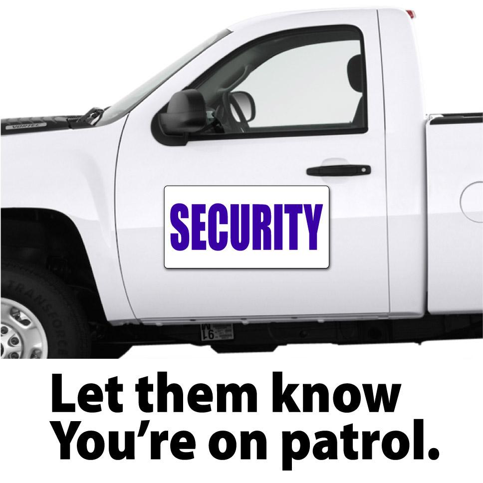 Security patrol officer vehicle magnetic signs security car magnets wholesale magnetic signs