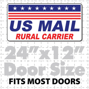 "24""X12"" US Mail Rural Carrier Magnetic Sign Stars & Stripes - Wholesale Magnetic Signs"