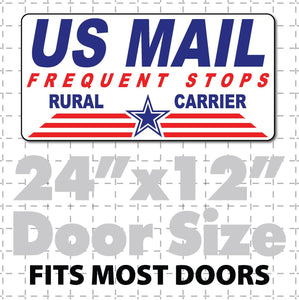 US mail frequent stops rural carrier magnet sign
