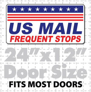 "24""X12"" US Mail Magnetic Sign Frequent Stops Stars & Stripes - Wholesale Magnetic Signs"