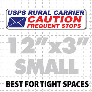 "Rural Carrier Magnetic Sign Caution Frequent Stops Envelope Magnet 12""X3"" - Wholesale Magnetic Signs"