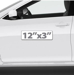 "12""x3"" Magnetic Sign for Cars (small & universal) - Wholesale Magnetic Signs"